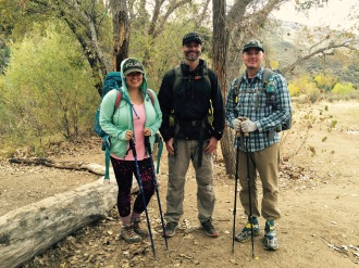 Doris, Robb and Don at the Bear Creek Camp on the way home. Photo Credit: Casey